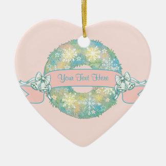 Guirnalda multicolora retra del navidad 50s del adorno de cerámica en forma de corazón