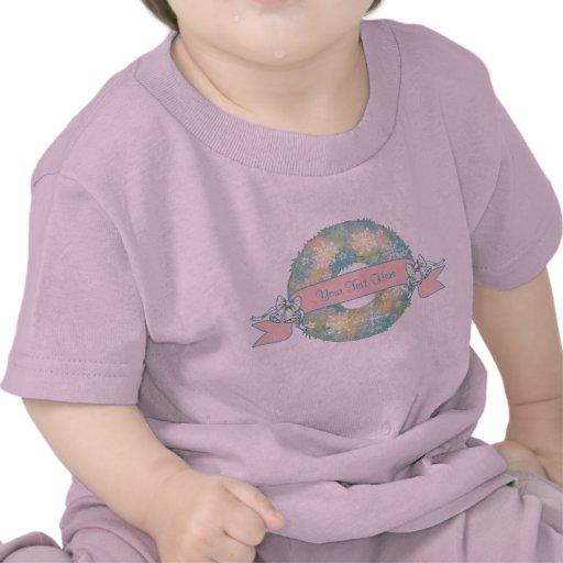 Guirnalda multicolora retra del navidad 50s del camiseta