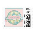 Guirnalda multicolora retra del navidad 50s del sello