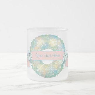 Guirnalda multicolora retra del navidad 50s del te tazas de café