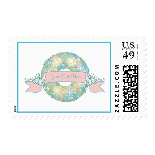 Guirnalda multicolora retra del navidad 50s del timbre postal