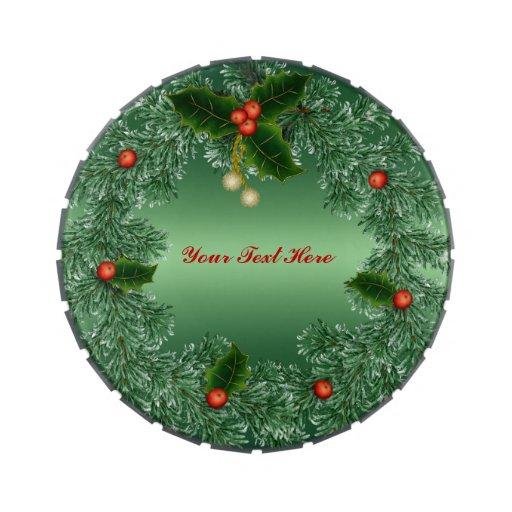 Guirnalda personalizada del navidad frascos de caramelos