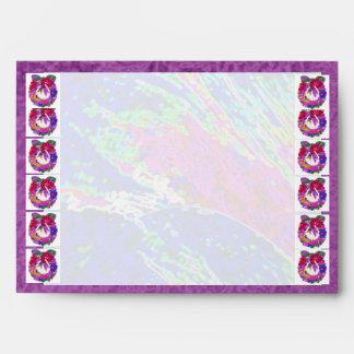Guirnalda púrpura de la flor:  Frontera de seda de