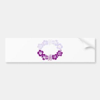 guirnalda púrpura de los leus del hibisco pegatina para auto