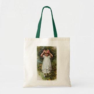 Guirnalda que lleva del florista del vintage bolsas