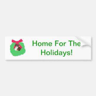 Guirnalda rayada del navidad del día de fiesta del etiqueta de parachoque