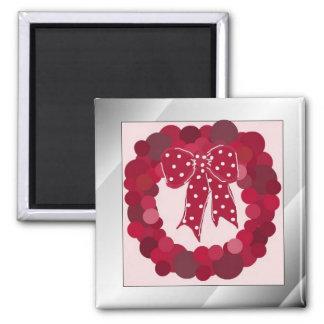 Guirnalda roja del diseñador imán para frigorífico