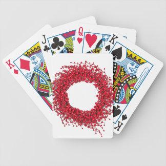 Guirnalda roja del navidad cartas de juego