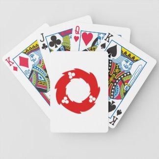 Guirnalda roja del navidad baraja cartas de poker