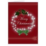 Guirnalda roja elegante del navidad tarjeta