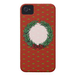 Guirnalda roja y verde del vintage de la cinta del iPhone 4 coberturas
