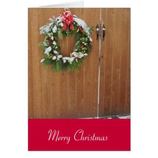 Guirnalda sacada el polvo nieve del navidad tarjeta de felicitación