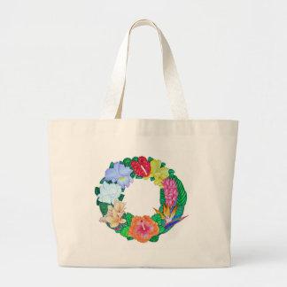 Guirnalda tropical bolsa tela grande