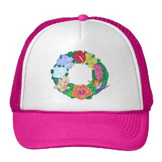 Guirnalda tropical gorras