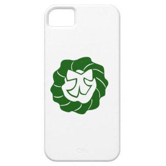 Guirnalda verde del navidad con el arco iPhone 5 cobertura