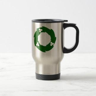 Guirnalda verde del navidad tazas de café