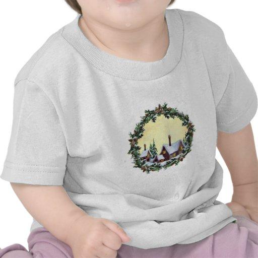 GUIRNALDA y CASAS del NAVIDAD de SHARON SHARPE Camiseta