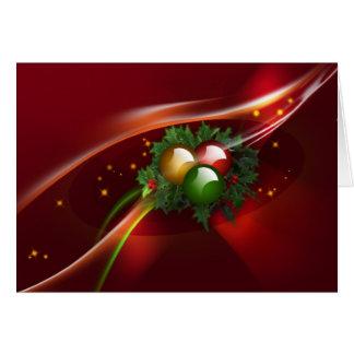 Guirnalda y ornamentos del acebo tarjeta de felicitación