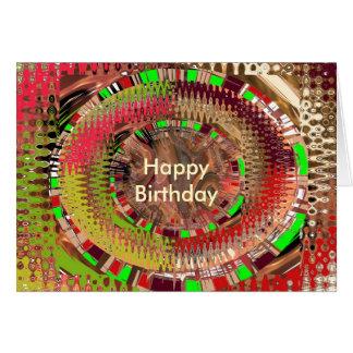 Guirnaldas del arco iris tarjeta de felicitación