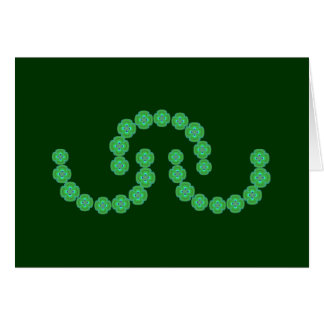 Guirnaldas del verde esmeralda tarjeton