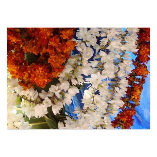 Guirnaldas la India de la flor Tarjetas De Visita Grandes