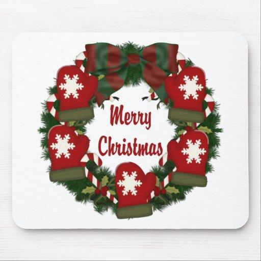 Guirnaldas preciosas del navidad del día de fiesta tapetes de ratón