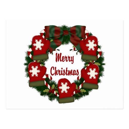 Guirnaldas preciosas del navidad del día de fiesta tarjetas postales