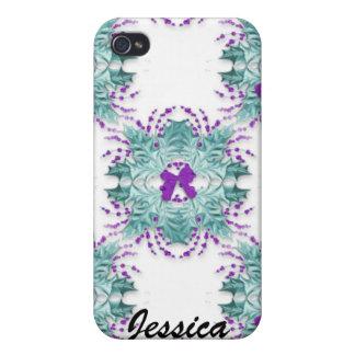 Guirnaldas y arco púrpuras Iphone 4 Ca iPhone 4 Carcasa