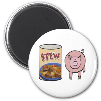 guisado-cerdo imán redondo 5 cm