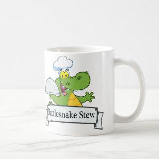 Guisado de la serpiente del traqueteo taza de café