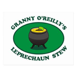 Guisado del Leprechaun de O'Reilly de la abuelita Tarjeta Postal