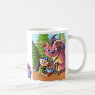 Guisado imaginario del fango del amigo tazas de café