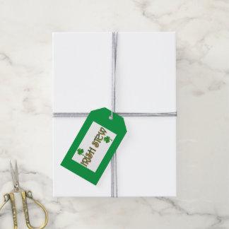 Guisado irlandés etiquetas para regalos
