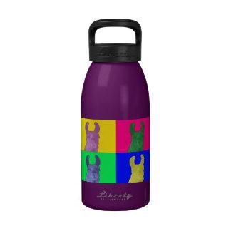Guisante de olor de la llama: La llama colorida de Botella De Agua Reutilizable