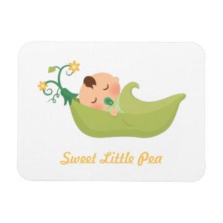 Guisante de olor en un bebé lindo de la vaina imán flexible
