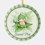 Guisante de olor ornaments para arbol de navidad