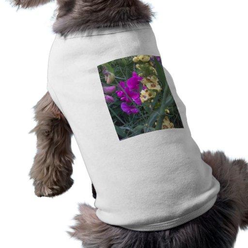 Guisante de olor y flor de Mullein Ropa De Mascota