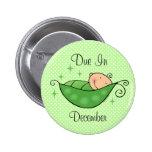 Guisante en mi botón personalizado vaina pin