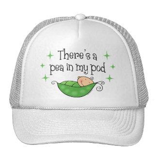 Guisante en mi gorra de la vaina