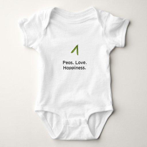 Guisantes. Amor. Felicidad Body Para Bebé