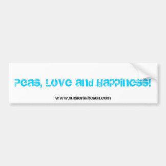 ¡Guisantes, amor y felicidad! pegatina Pegatina Para Auto