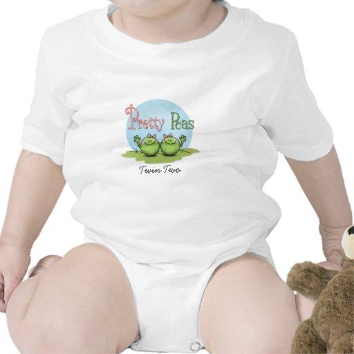 Guisantes bonitos - chicas gemelos de los veggies traje de bebé