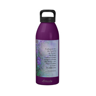 Guisantes de olor del rezo de la serenidad botellas de agua reutilizables