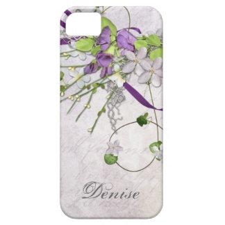 Guisantes de olor femeninos de la púrpura de la funda para iPhone 5 barely there