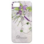 Guisantes de olor femeninos de la púrpura de la la iPhone 5 Case-Mate cárcasas