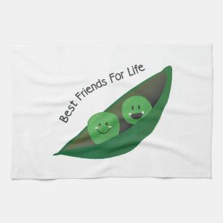 Guisantes del mejor amigo toallas