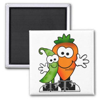Guisantes e imán de las zanahorias