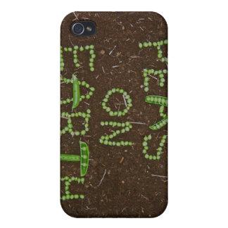 Guisantes en la tierra iPhone 4 carcasa