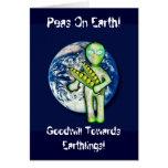 ¡Guisantes en la tierra! ¡Voluntad hacia Earthling Felicitación