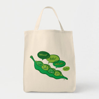 Guisantes en un bolso de la vaina (hola) bolsa